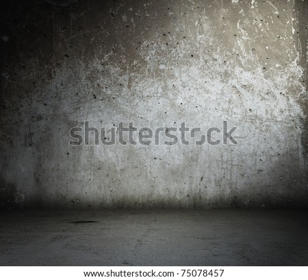 old abandoned room, dirty background - stock photo
