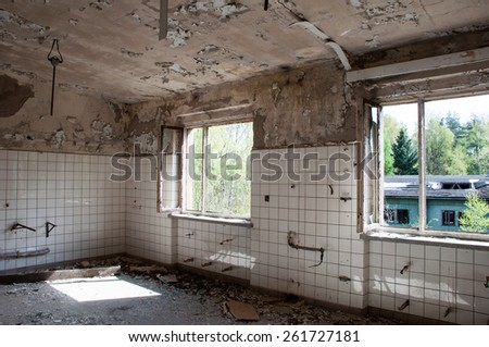 Old abandoned ruin - stock photo