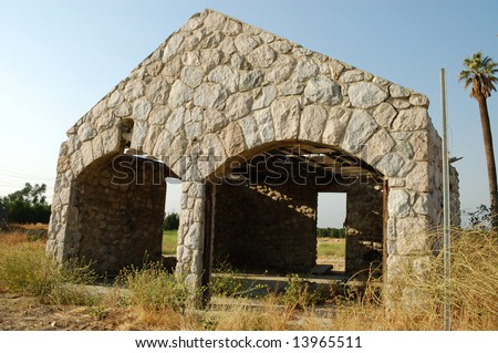 Old abandoned stone building; Loma Linda, California