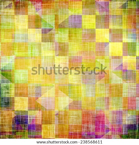 Old abstract grunge background, aged retro texture. With different color patterns: blue; green; purple (violet); orange; brown; yellow