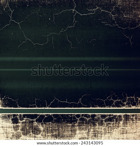Old abstract grunge background, aged retro texture. With different color patterns: brown; black; gray; yellow (beige) - stock photo