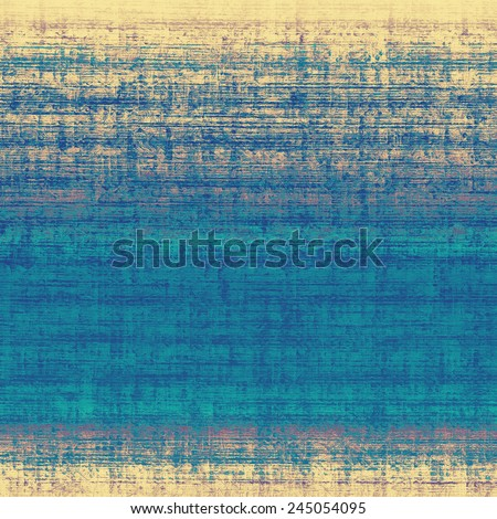 Old abstract grunge background, aged retro texture. With different color patterns: gray; yellow (beige); blue; cyan - stock photo
