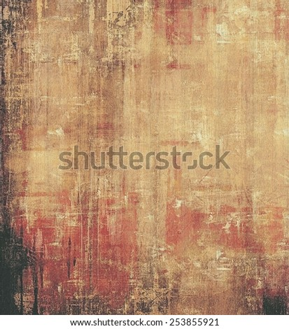 Old abstract grunge background, aged retro texture. With different color patterns: yellow (beige); brown; pink; black - stock photo