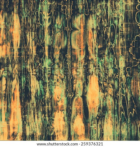 Old abstract grunge background, aged retro texture. With different color patterns: yellow (beige); green; black - stock photo