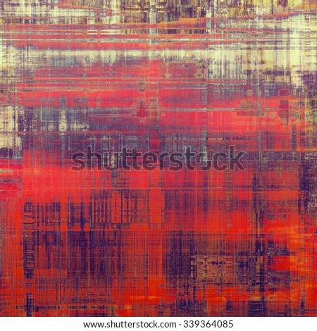 Old abstract grunge background, aged retro texture. With different color patterns: yellow (beige); brown; purple (violet); red (orange) - stock photo