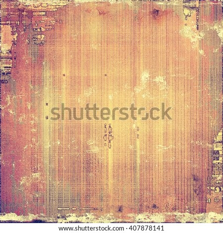 Old abstract texture used as shabby grungy background. With different color patterns: yellow (beige); brown; gray; red (orange); purple (violet); pink - stock photo