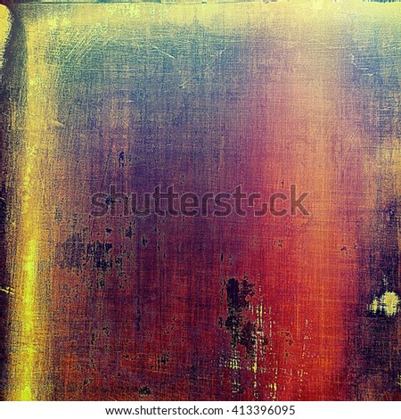 Old abstract texture used as shabby grungy background. With different color patterns: yellow (beige); green; blue; red (orange); purple (violet); pink - stock photo