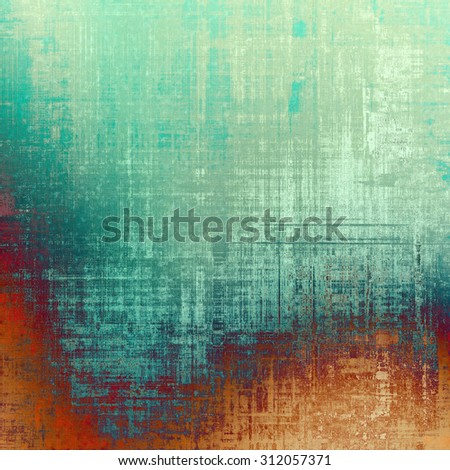 Old abstract texture with grunge stains. With different color patterns: yellow (beige); blue; cyan; purple (violet) - stock photo
