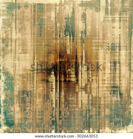 Old abstract texture with grunge stains. With different color patterns: yellow (beige); brown; green; gray - stock photo