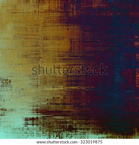 Old abstract texture with grunge stains. With different color patterns: yellow (beige); brown; purple (violet); blue - stock photo