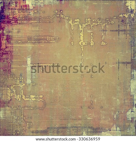 Old abstract texture with grunge stains. With different color patterns: yellow (beige); brown; purple (violet); gray - stock photo