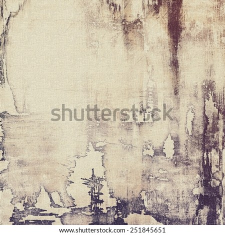 Old abstract texture with grunge stains. With different color patterns: yellow (beige); brown; gray; purple (violet) - stock photo