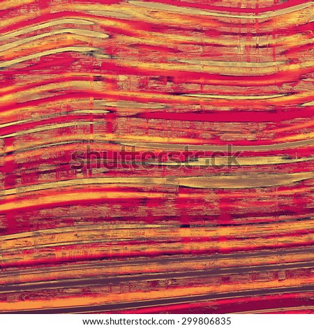 Old abstract texture with grunge stains. With different color patterns: yellow (beige); gray; pink; red (orange) - stock photo