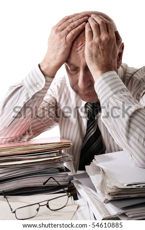 Old accountant - stock photo