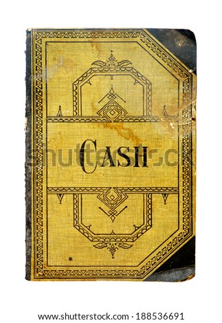 old accounting book - stock photo