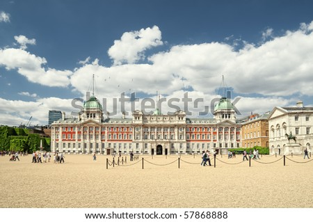 Old Admiralty Building, London, Westminster. - stock photo