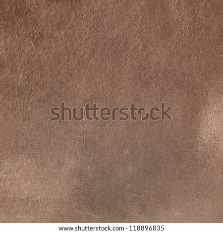 Old aged brown leather texture background. - stock photo