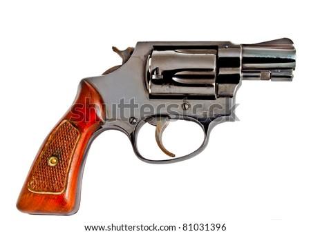 "Old aged 2"" 38 revolver hand  gun - stock photo"
