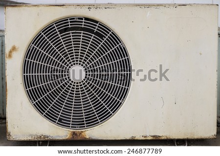 Old air compressor  - stock photo