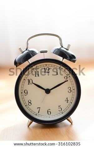 Old alarm clock suggesting deadline concept