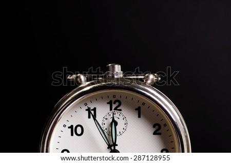 Old Alarm Clock - Urgent to Do Something - stock photo