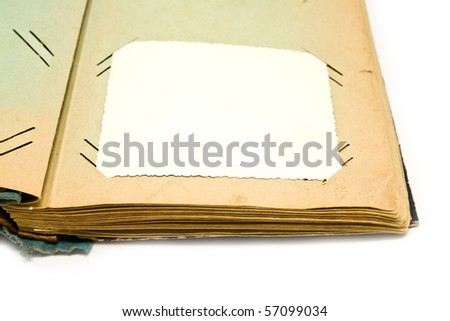 old album for pictures on a white background - stock photo