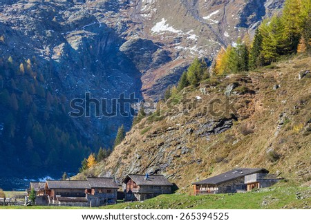 Old alp village in the mountain
