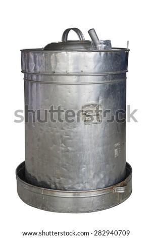 Old aluminum tank - stock photo
