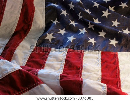 old American flag - stock photo