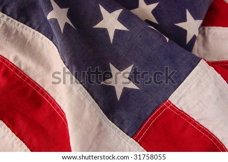 old American flag useful for a background