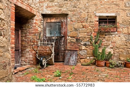Old an architectural detail as still life - stock photo
