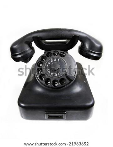 Old analog phone - stock photo