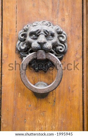 Old ancient door detail 28. See more in my portfolio - stock photo