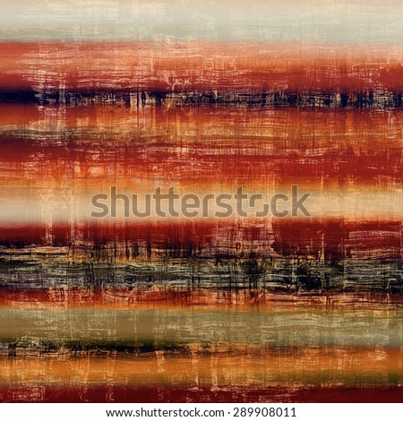 Old ancient texture, may be used as abstract grunge background. With different color patterns: yellow (beige); brown; black; red (orange) - stock photo
