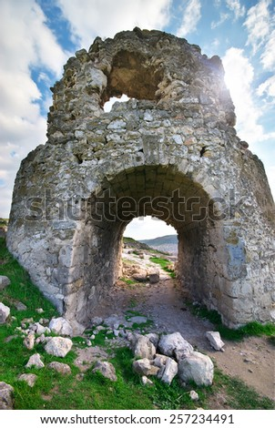 old ancient tower. Historic building. - stock photo