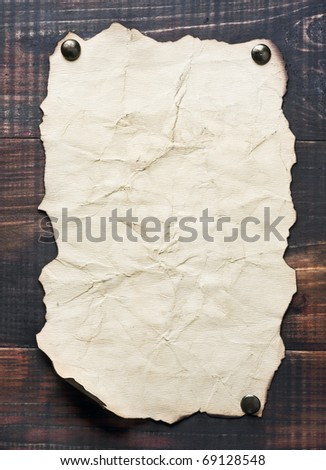 old and a blank poster on the wall - stock photo