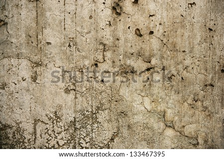 Old and battered stone wall. - stock photo