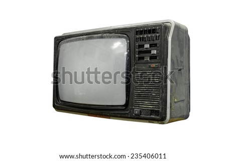 Old and dirty televisoin, 1980