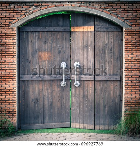 Old and mysterious doors are made of wood The door handle is a steel rod & Pull Door Stock Images Royalty-Free Images \u0026 Vectors | Shutterstock Pezcame.Com
