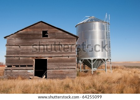 Old and New Granaries - stock photo