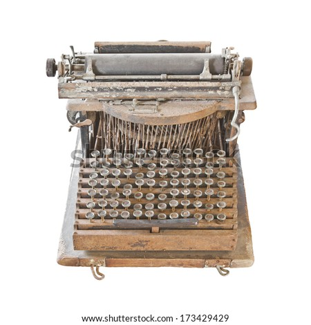 Old and rust typewriter - stock photo