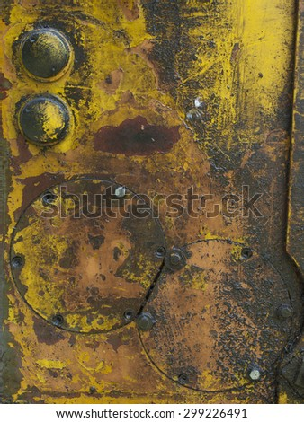 Old and rusty detail of the old device. - stock photo