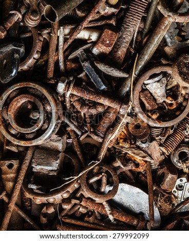 old and rusty hand tool - stock photo