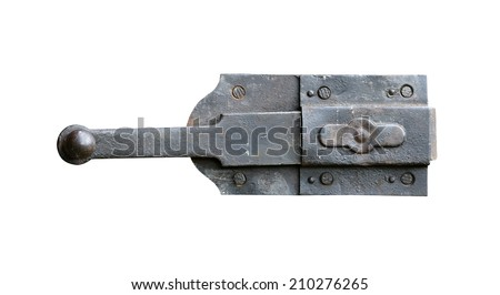 old and rusty latch - stock photo
