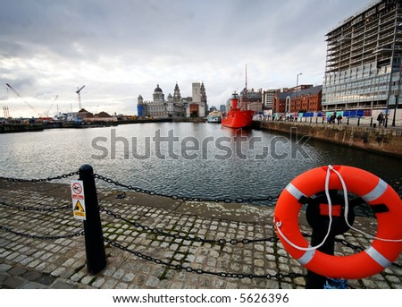 Old and the new - the changing face of the Liverpool skyline, European Capital of Culture 2008. - stock photo