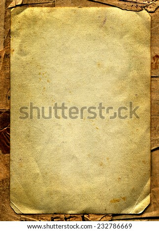 Old and Vintage Paper Texture - stock photo