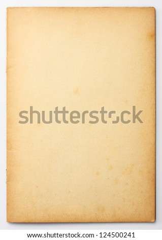 Old and weathered blank note paper - stock photo
