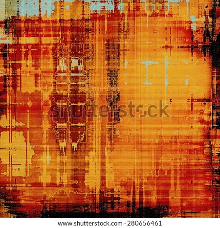 Old and weathered grunge texture. With different color patterns: yellow (beige); blue; red (orange); black - stock photo