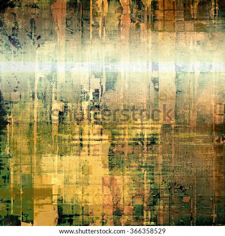 Old and weathered grunge texture. With different color patterns: yellow (beige); brown; black; green; gray - stock photo