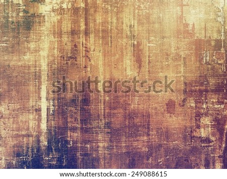 Old and weathered grunge texture. With different color patterns: yellow (beige); brown; gray; purple (violet) - stock photo